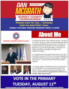 Primary Flyer - Vote for Dan McGrath